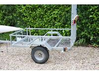 Galvanised Car Trailer - camping lawn mowers m/bikes tip runs etc