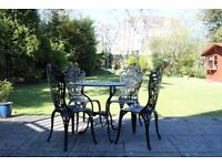 Table and Chairs - For garden - Metal