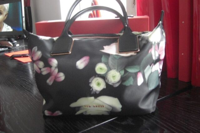 0e1014c797 Ted Baker Black Floral Tote Bag | in Birtley, County Durham | Gumtree