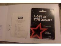 UNWANTED :CINEMA GIFT CARD