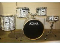Tama Superstar EFX Series White Satin Haze Drum Kit 12in 13in 16in Toms 22in Bass and 14in Snare