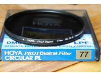 genuine hoya 77mm polariser filter mint condition only used twice