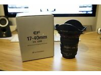 Canon EF 17-40mm f/4 L Lens