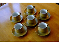 DENBY ODE CUPS and SAUCERS
