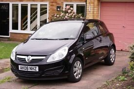 Vauxhall Corsa 1.2, 2008, black, low mileage, low running cost's