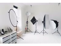 Fully equipped photo studio for hire