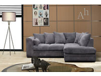 *BRAND NEW* CORNER JUMBO CORD SOFA DYLAN *AVAILABLE IN DIFFERENT COLOURS*
