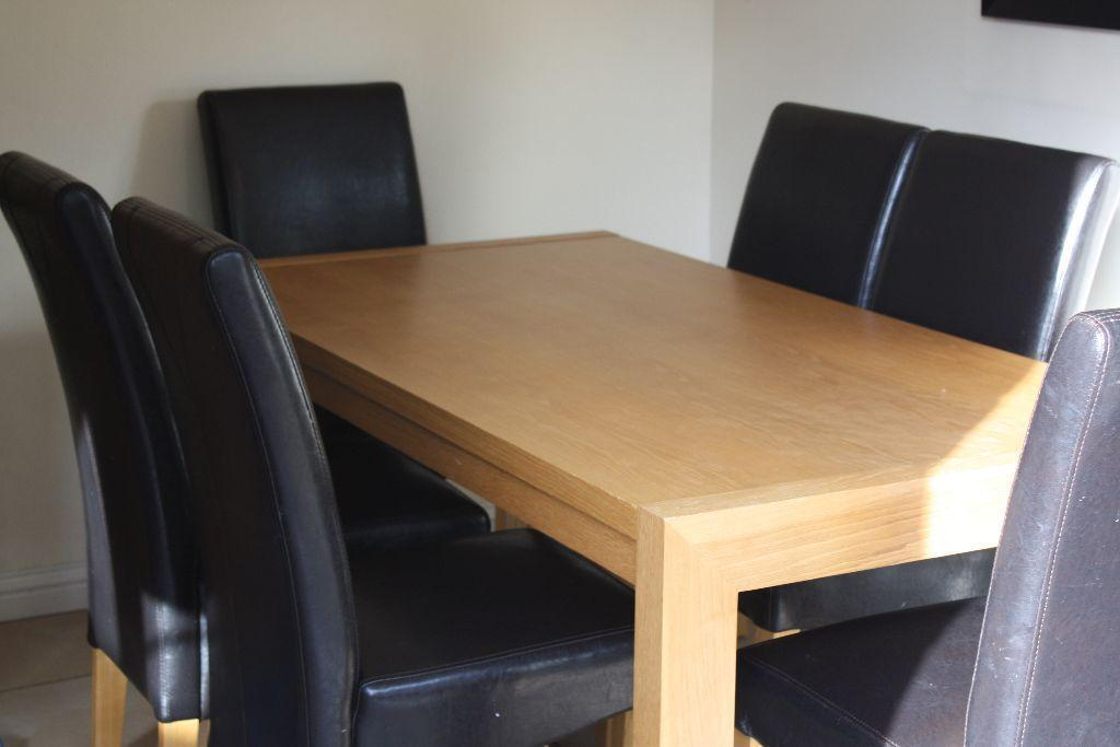 harveys oak 6 chair dinning table set in Eastleigh  : 86 from www.gumtree.com size 1024 x 683 jpeg 49kB