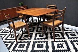 Stunning G Plan dining table and 4 chairs. Danish inspired retro mid century. Free Edinburgh del.