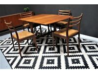 Stunning G Plan dining table and 4 chairs. Danish inspired retro mid century. Free Edinburgh del.