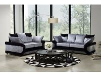 NEW YEAR SALE --CHESTER FIELD CRUSH VELVET Corner Sofa / 3 + 2 Seater Sofa -- Superb Quality