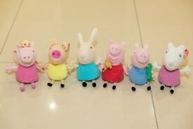 Collection of 6 Peppa Pig Beanie Soft Toys (Ty)