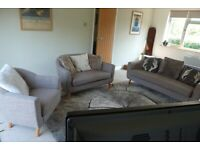 Lovely 2 and 3 seater sofas with armchair from Made
