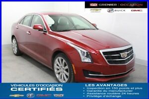 2015 Cadillac ATS SEDAN AWD Turbo LUXURY *NAV CUIR TOIT MAG 18''