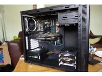 Water cooled, Silent Gaming PC (Win 10, i5-3570k, EVGA GTX 760,16 GB RAM, 240GB SSD, 1 TB HDD