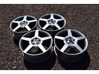 """Genuine 18"""" Mercedes A Class W169 AMG Alloy Wheels Refinished in Hyper Silver"""