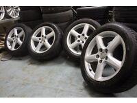 Genuine Toyota/Ronal 17x7J 5x114.3 alloy wheels + four 225/50/17 tyres