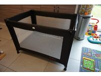 Red Kite Sleeptight Travel Cot – Black ***collection only***