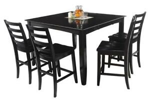 Ryley Five Piece Dining Set Counter Height In Cappuccino