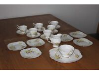 Royal Albert 21 piece bone china teaset. Primroses & violets. Brilliant condition
