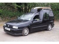 VW Caddy 1.9 sdi black modified surf camper van