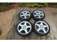 "Genuine Mercedes Benz AMG 18"" Sport Alloy Wheels and Michelin Pilot Sport Tyres x 4"
