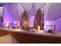WEDDING PLANNING, STYLING, DECOR, THRONE CHAIRS, LOVE SEAT, LED LOVE LETTERS!!