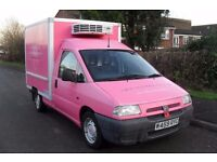 FRIDGE VAN 2000 CITROEN DISPATCH 1.9 TD ( pink van )