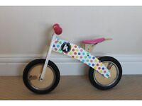 Kiddimoto Wooden Balance Bike & Helmet - Barely Used