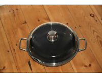 Silit pan with glas lid - for fring and overbaking in the oven - for free