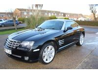 Chrysler Crossfire,black,low warranted mileage