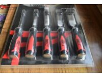 BNIB FORGE STEEL WOOD CHISEL SET 5 PIECES