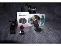 "Canon EOS 600D 18.0MP Digital SLR Camera Kit w/ EF-S 18-55mm is ii Lens +9"" Tab"