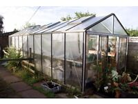 Large greenhouse 7m x 3m, glass to floor