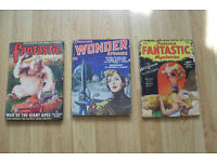 3 X 1940s TO 1950s PULP SCIENCE FICTION MAGAZINES
