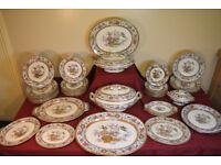Stunning Antique 1870s Victorian Dinner Service 50 Piece Indian Jar Bird Plate Platter Vintage Rare