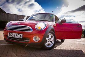 Mini One, (BMW) 2007 (57 REG) Panoramic Sunroof, Service History, Start Stop Feature, Metallic Red