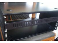 Steel Studio Rackmounts for 19inch units (FX Amps) - 2 + Accessories = 8u