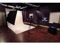 Hire Photography Indoor Studio Cricklewood For Charity / GreenScreen , Canon 5D 3, Lighting ,Sound