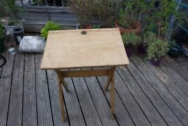 Old Style Folding School Table