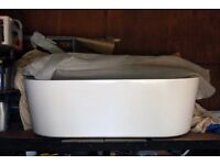 ***Beautiful brand new Freestanding white large Arc Bathtub***