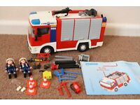 Playmobil 4821 City Action Fire Engine (Has Blue Flashing Lights)