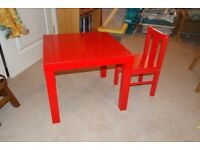 IKEA childs table and chair
