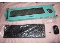Logitech MK270 Wireless Keyboard & Mouse set with USB dongle NO BATTERIES.