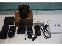 Nikon D7100 Bundle, 2 Lenses Flash etc.