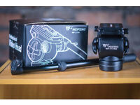WF-717AH Professional Video Camera Tripod Action Fluid Drag Head For DSLR Cameras