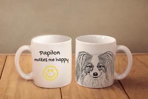 Papillon - ein Becher &quot;Makes me happy&quot; Subli Dog, AT - <span itemprop='availableAtOrFrom'>Zary, Polska</span> - Zwroty są przyjmowane - Zary, Polska