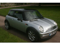 04 MINI COOPER, 1.6, 3 DR, EX. COND, LEATHER INTERIOR, NEW MOT, FREE WARRANTY