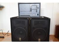Yamaha PA system, EMX88S c/w Speakers