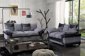 *BRAND NEW* Dino jumbo cord sofas / 3+2 seater set or corner sofa in grey/black or beige/brown